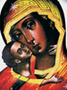 "<b>""Vladimirskaya Holy Mother""</b><br/>fragment, wood, tempera, 2005, 35х30"